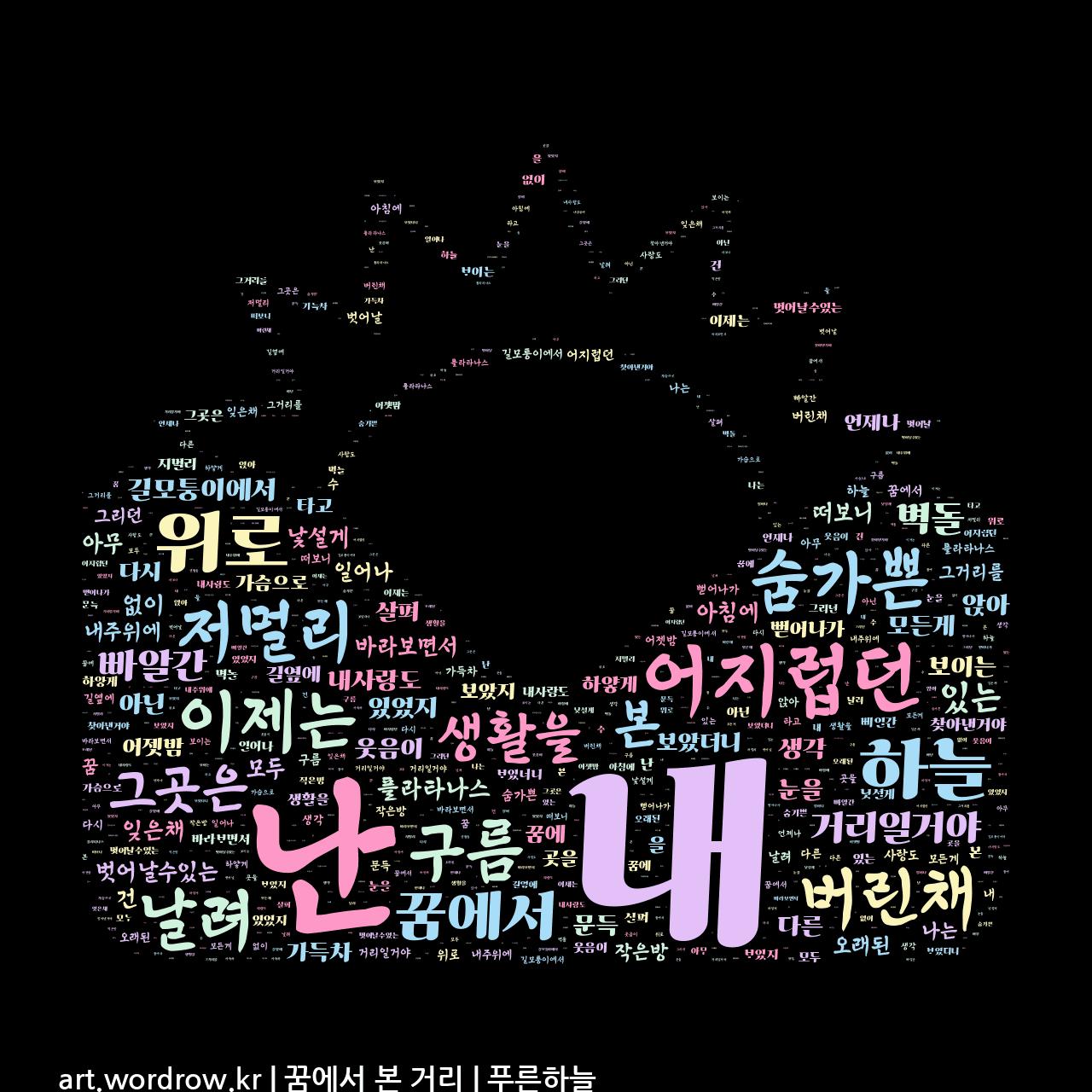 워드 아트: 꿈에서 본 거리 [푸른하늘]-10